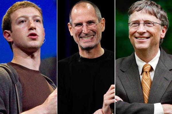 استیو جابز، بیل گیتس و مارک زاکربرگ بنیان گذران سه غول بزرگ فناوری